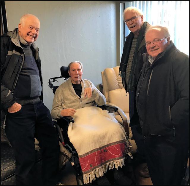 Tom Pidduck, George Renshaw,Jim Jackson, Harold Shantz