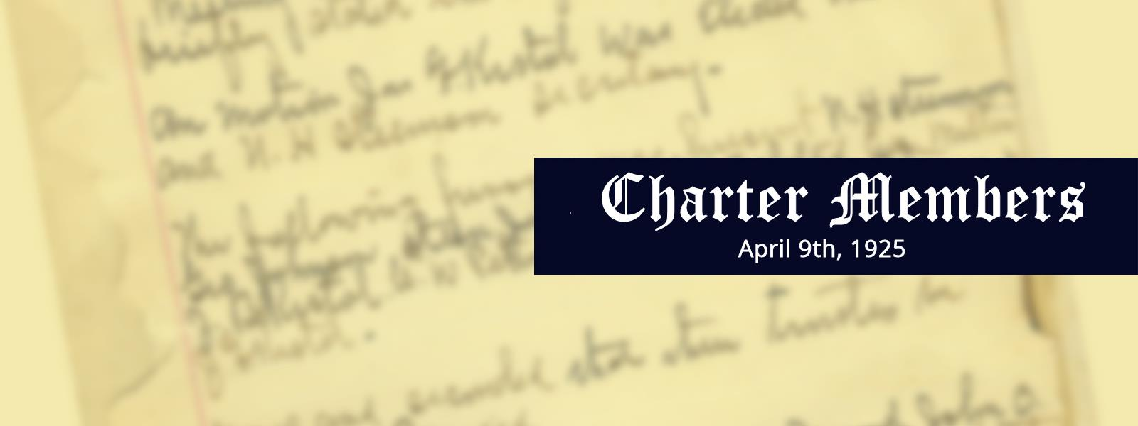 Charter Members Banner