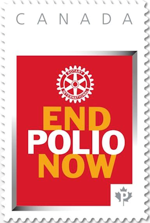 Canada End Polio Now Postage Stamp