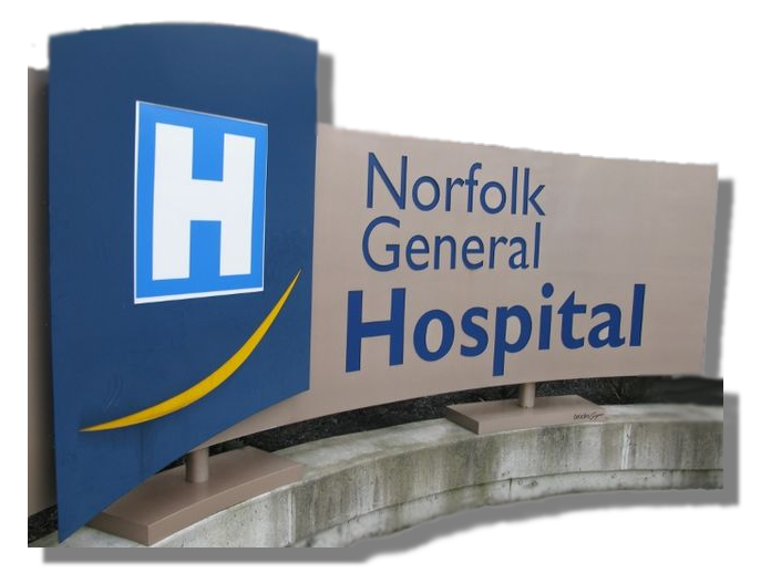 Norfolk General Hosital Sign