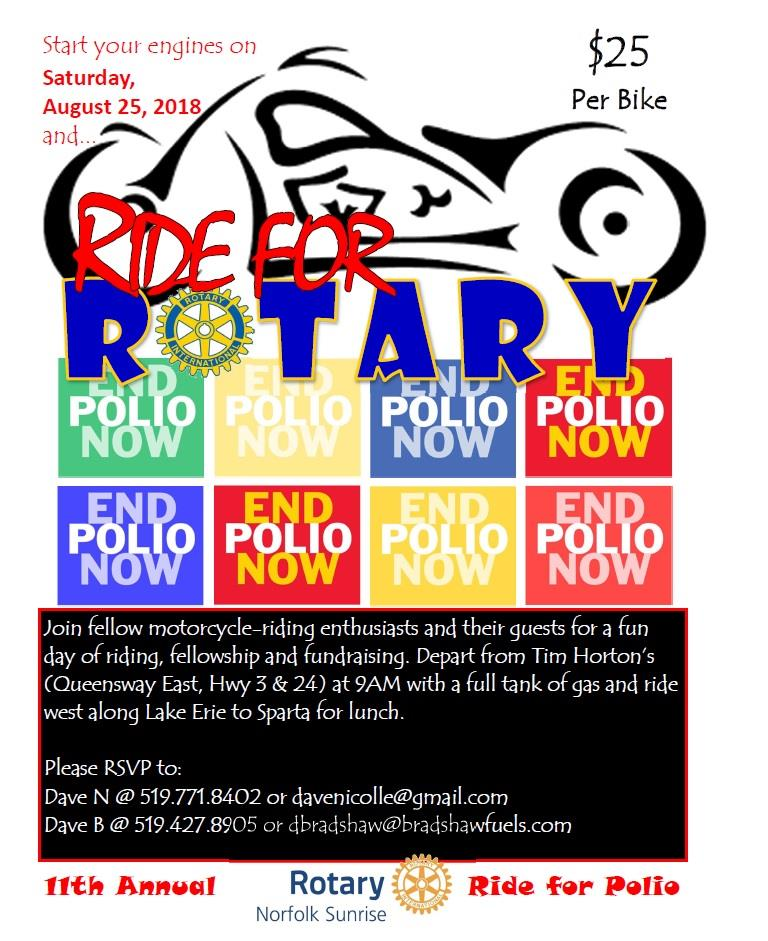 Ride For Rotary Poster