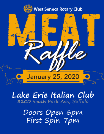Rotary Meat Raffle Poster