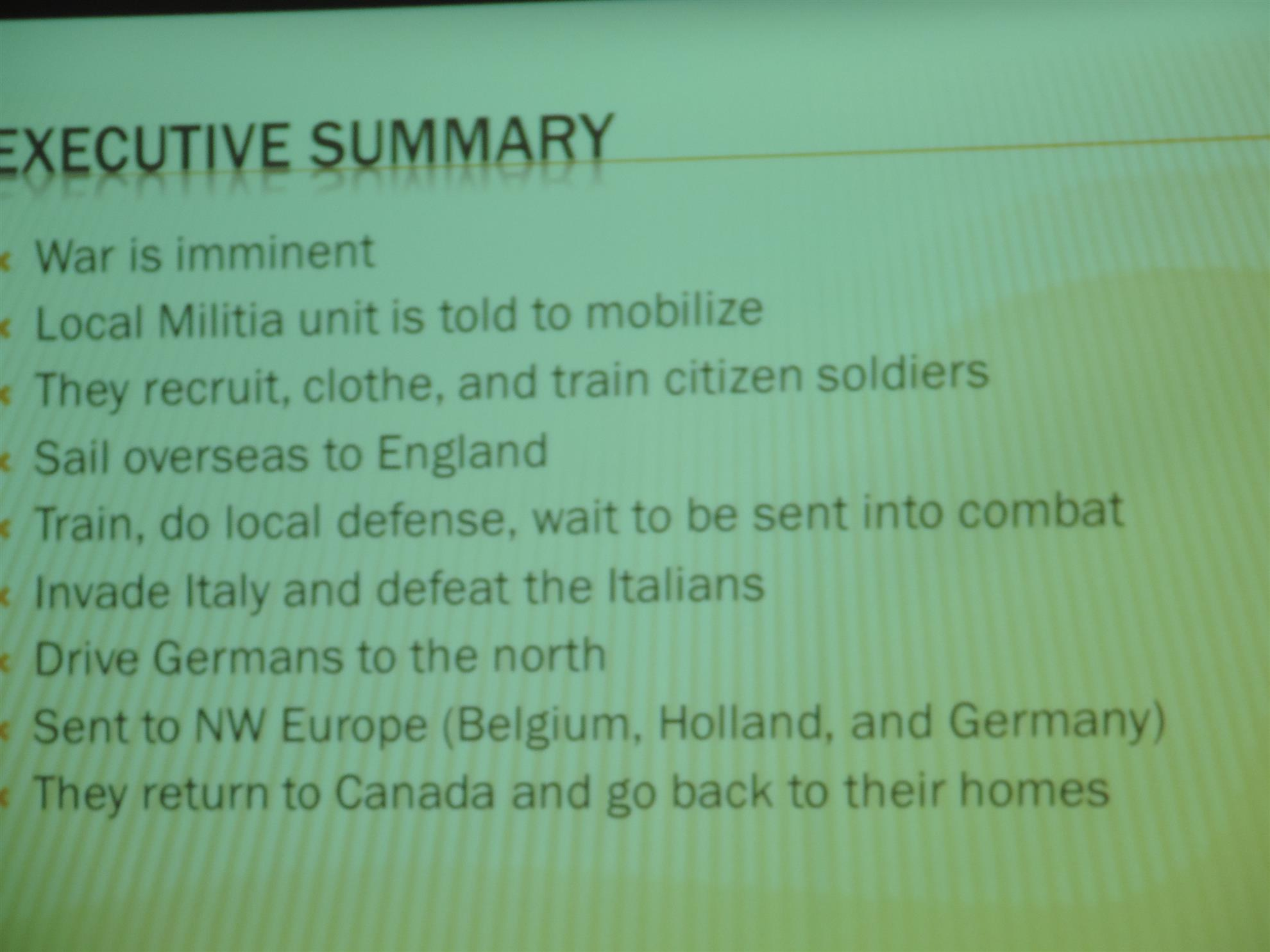 ron provided us with a comprehensive overview and detailed stories on the regiments invasion of italy this was the largest invasion ever prior to d day
