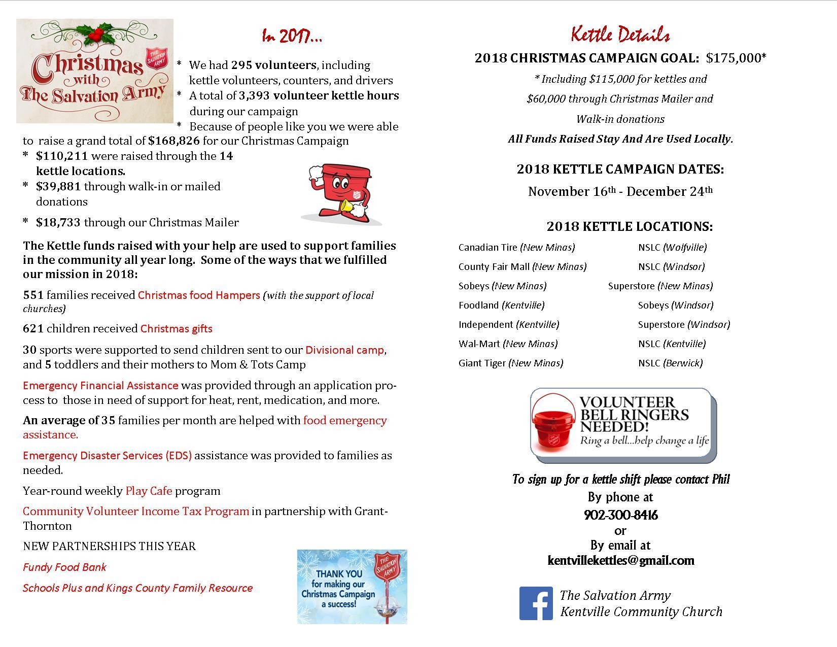 fde8176e724 Salvation Army Kettle update  Phil circulated and shared the following