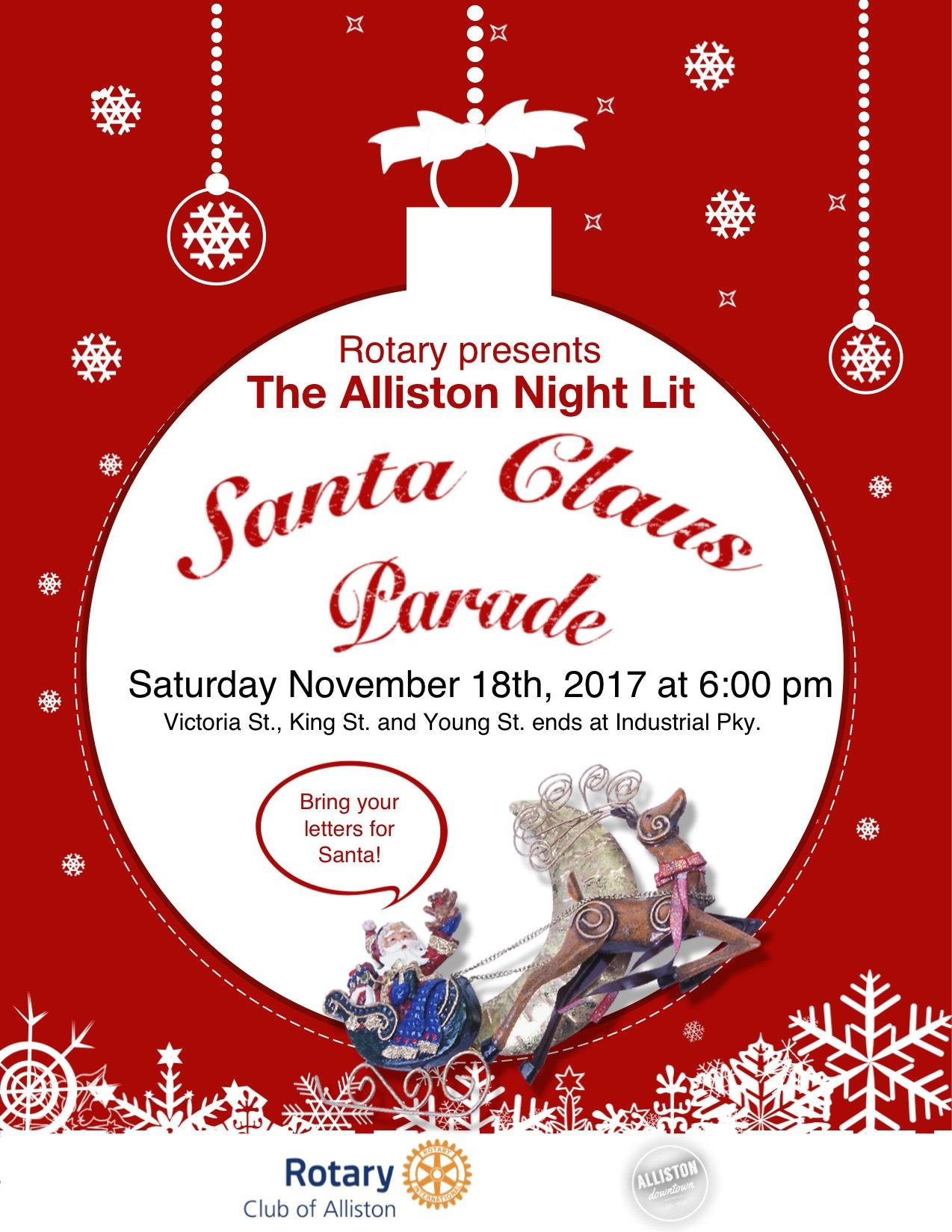 Stories rotary club of alliston join us for the 11th annual night lit parade in alliston spiritdancerdesigns Image collections
