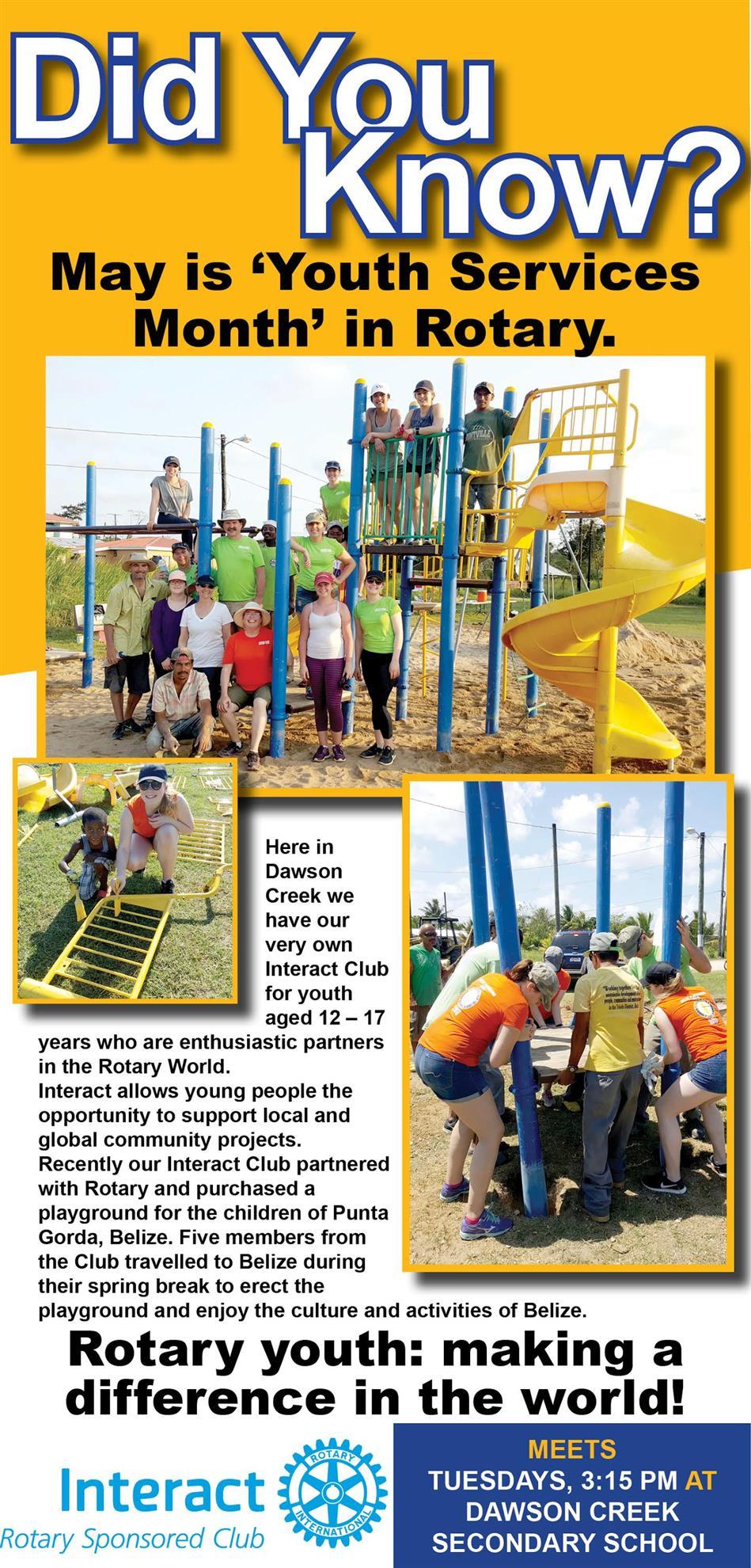 Interact Dawson Creek - Belize Playground Build   Rotary Club of ...