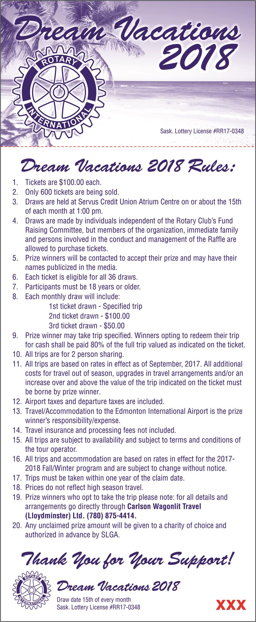 Please See Below For This Years Rules And Prize Draws