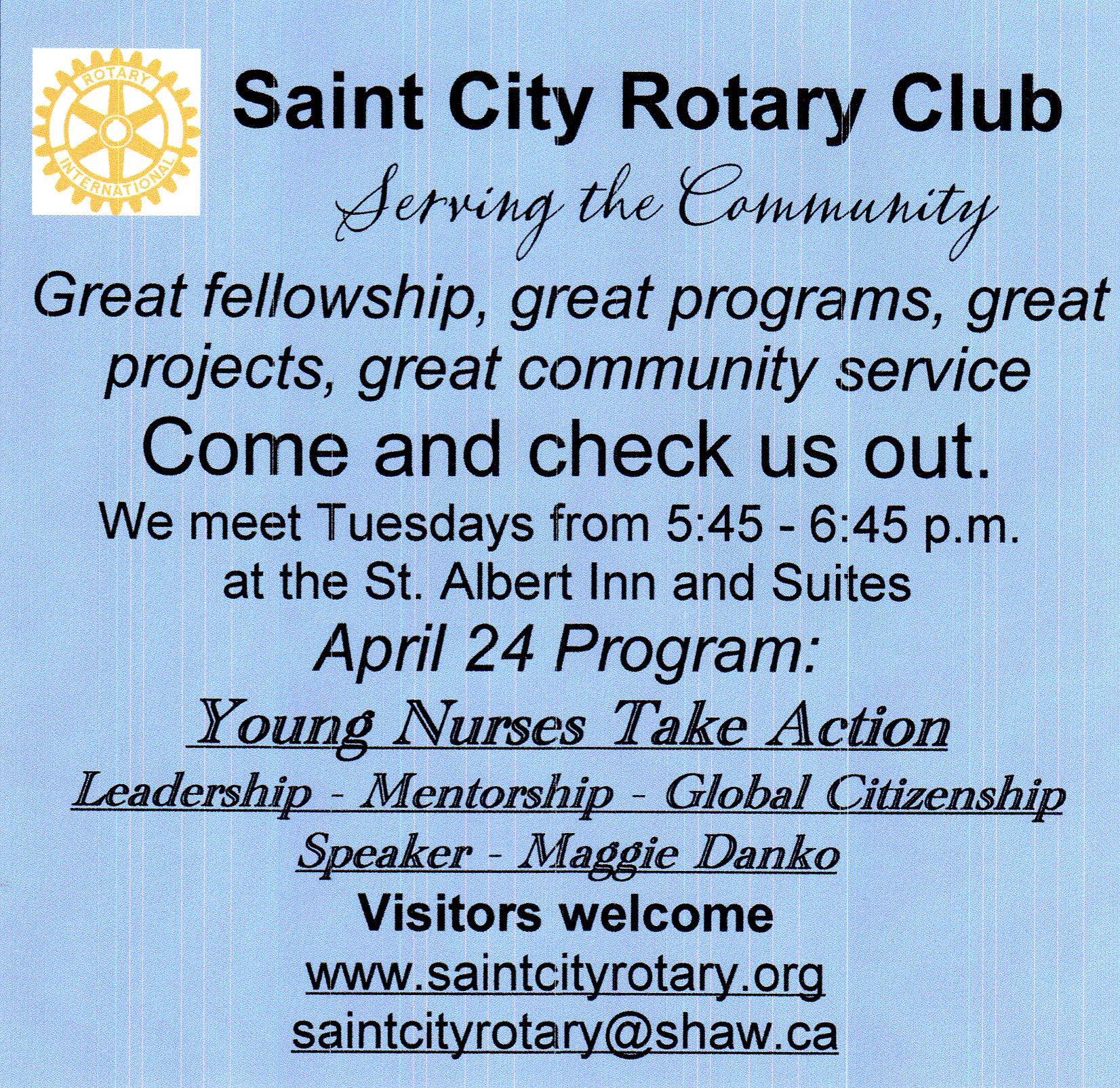 Stories Rotary Club Of St Albert Saint City