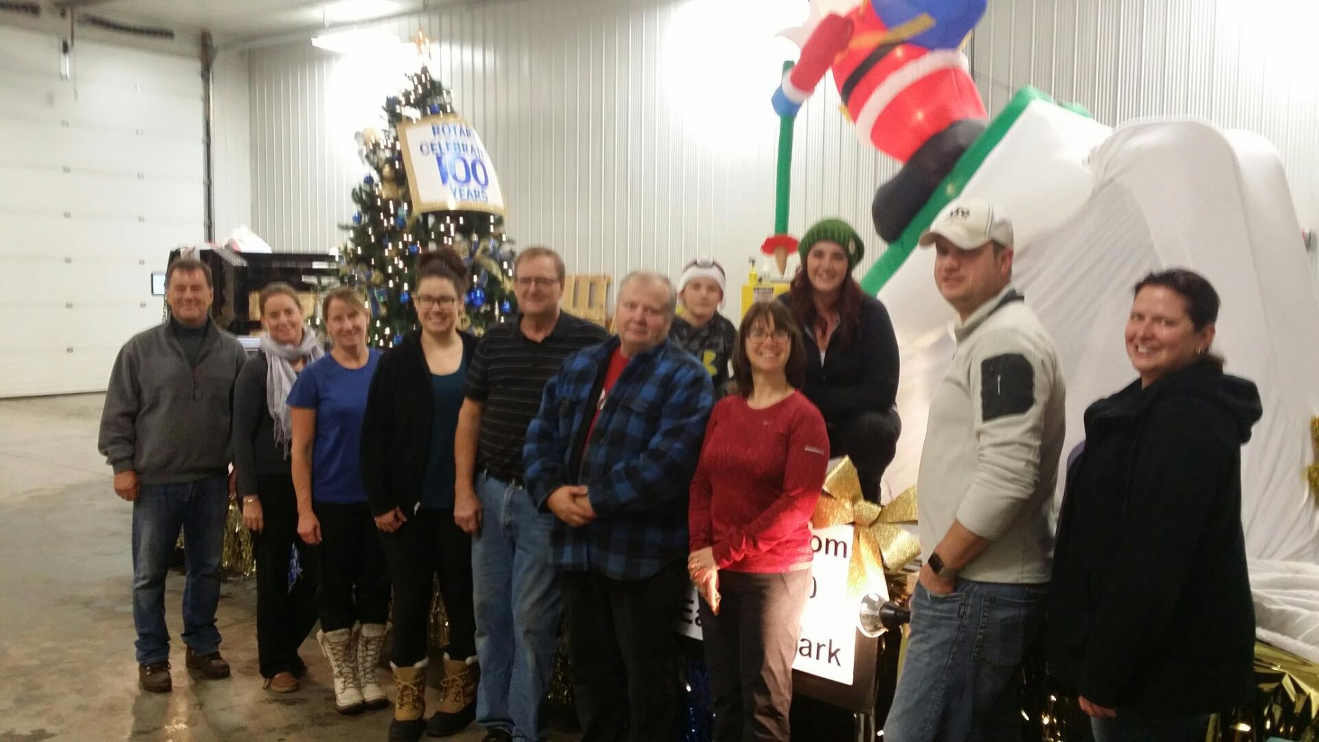Decorating the Rotary Christmas Float | Rotary Club of Whitecourt