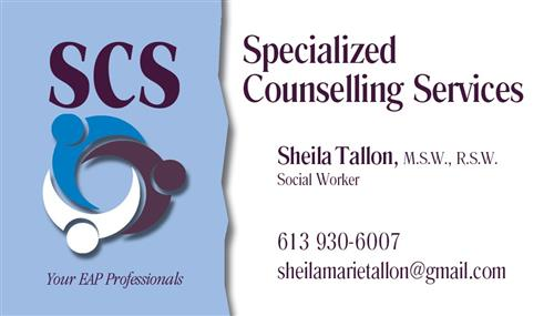 Sheila Tallon - Specialized Counselling Services