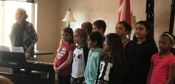 What a wonderful presentation put on by nine students of Michener  Elementary School under the direction of Mrs. Force. They sang a medley of  popular songs ... e84d41ed4