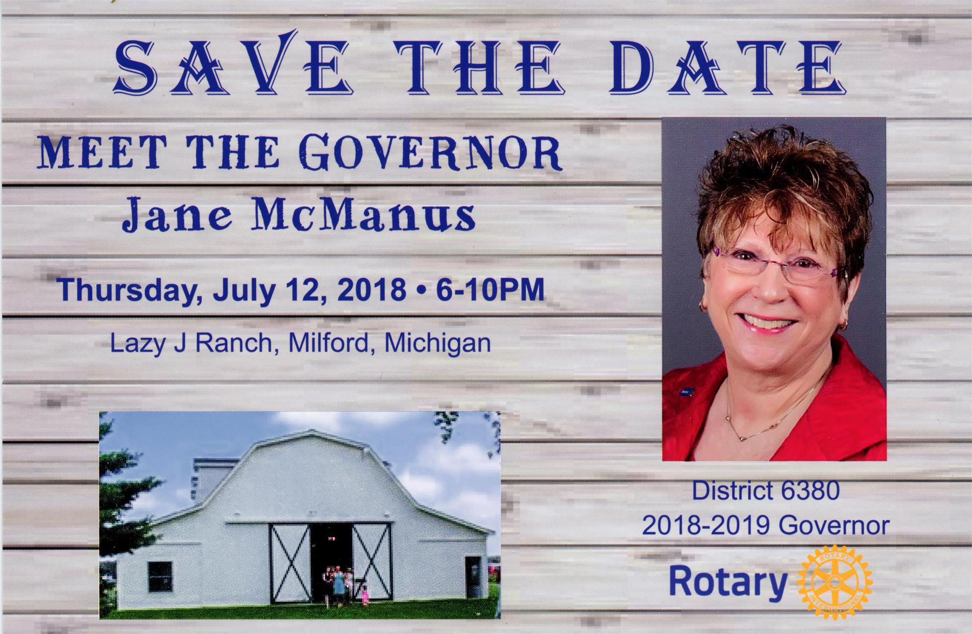 Meet The Governor - Thursday July 12, 2018