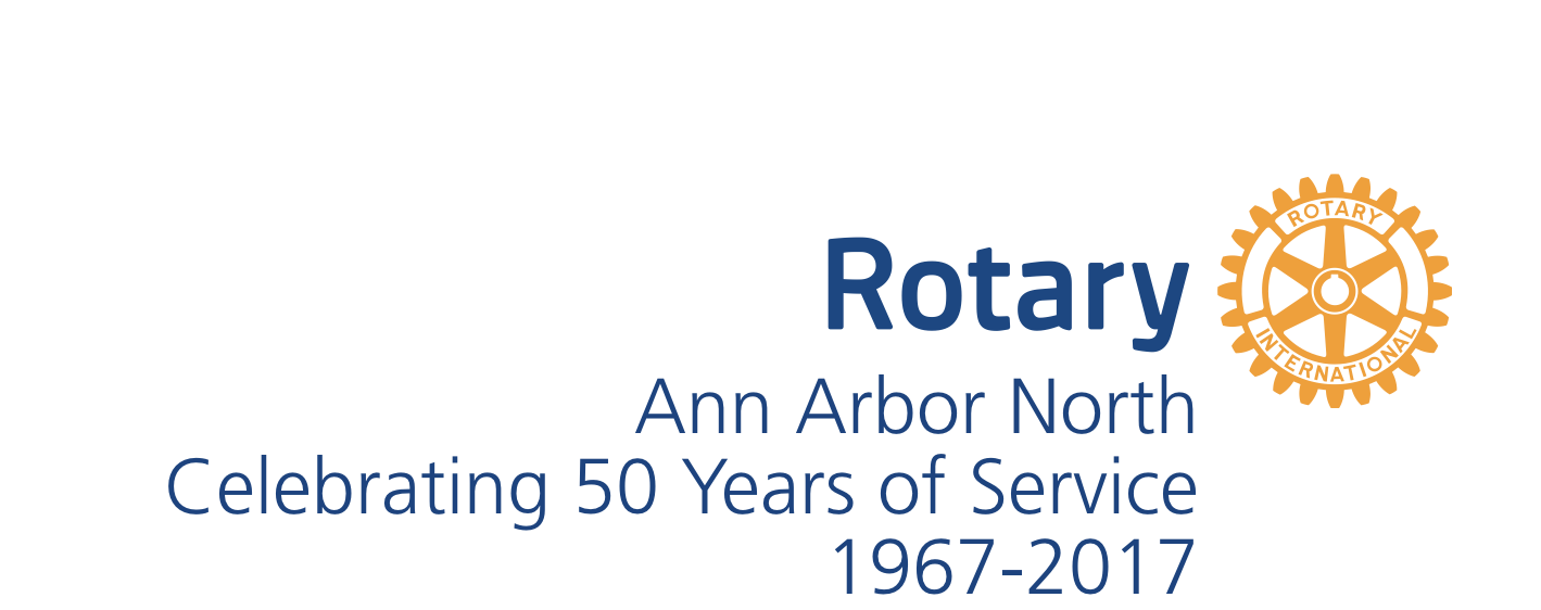 Rotary Club of Ann Arbor North, 50th Anniversary - Logo