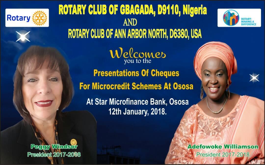 Micro Credit - Two Women Club Presidet's