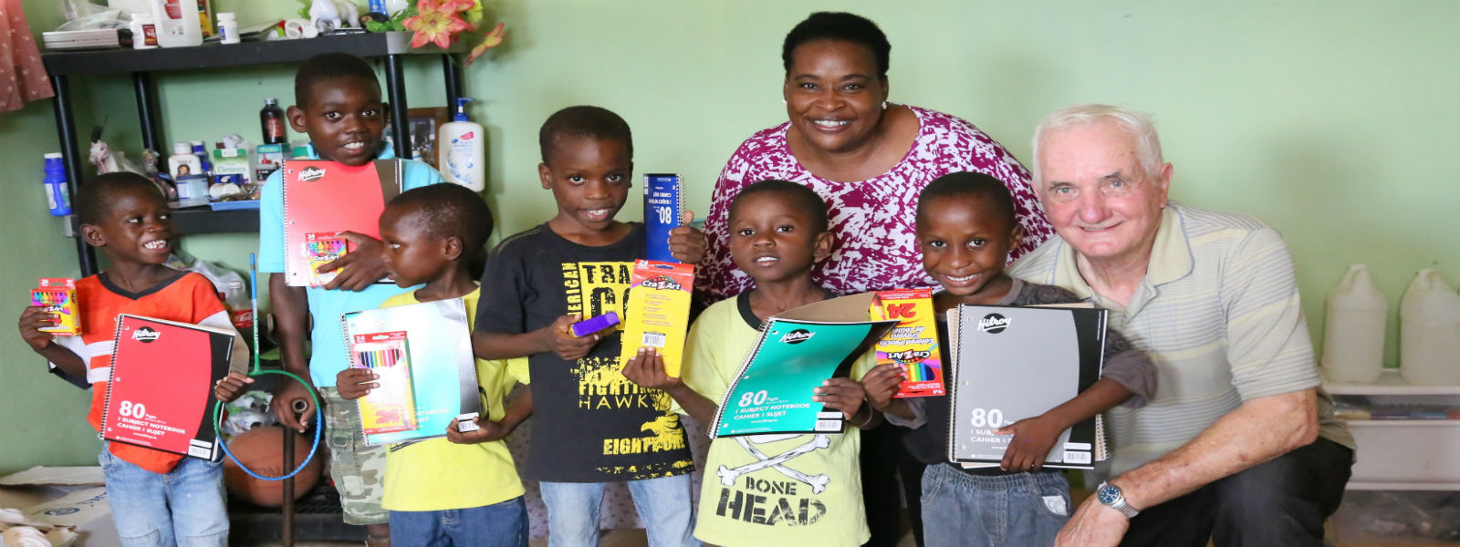 Photograph by Goldstream News Gazette of Divine Hands' children