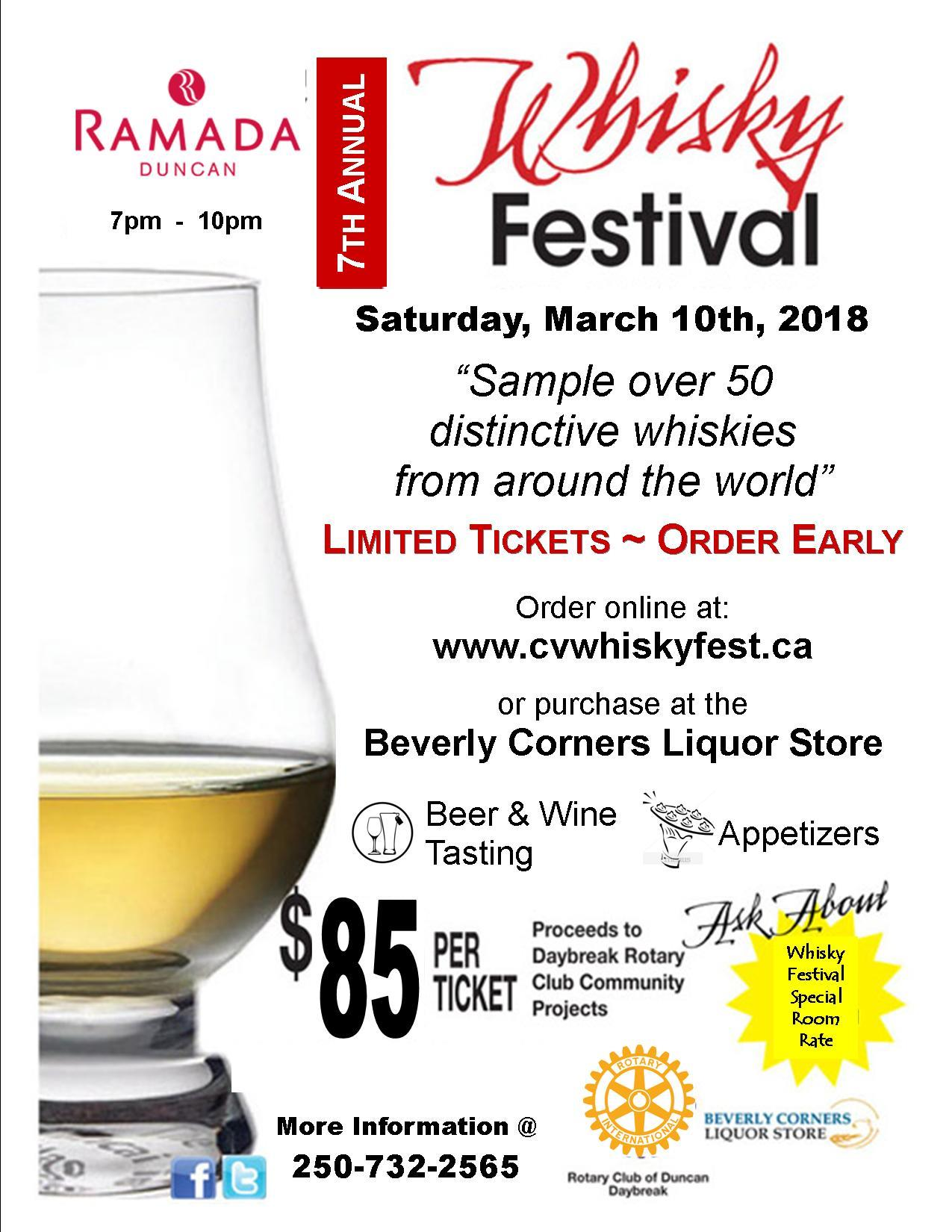 Whiskey Fest 2018 in Duncan BC