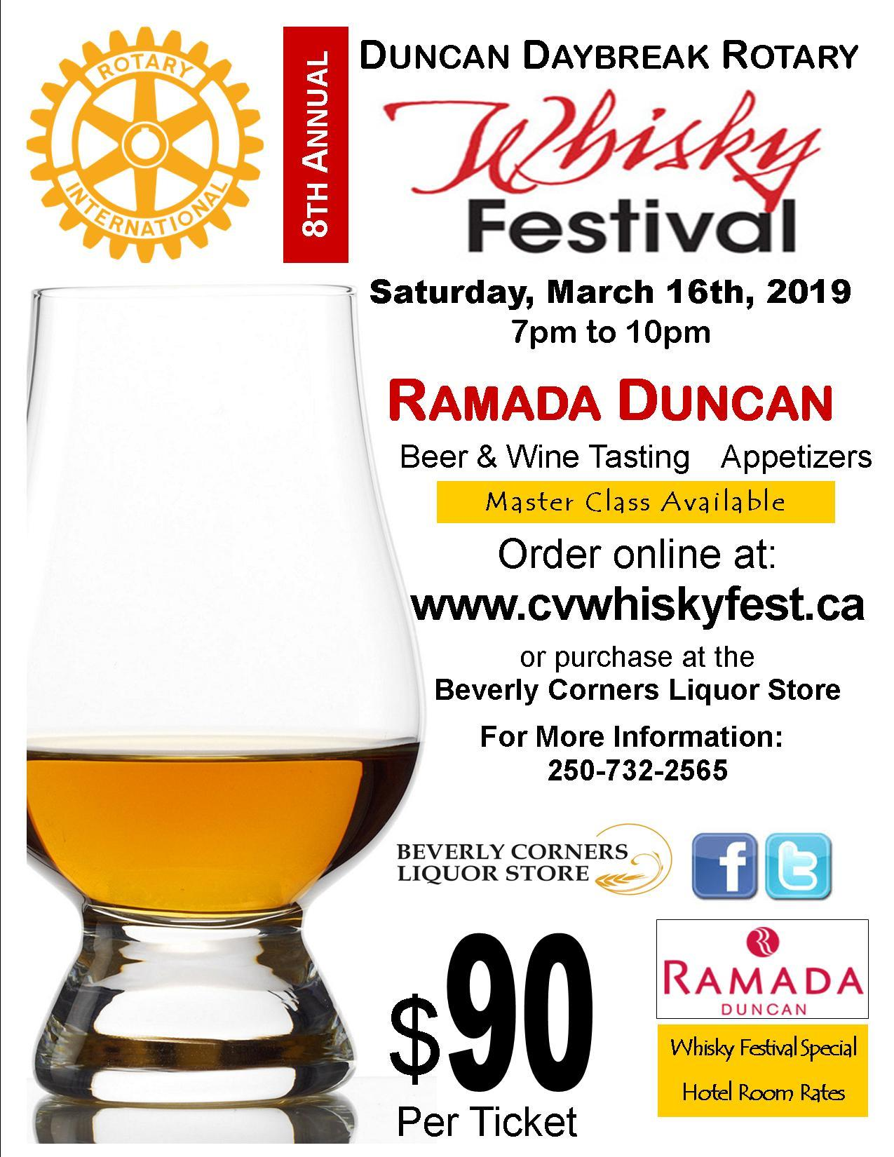 Whiskey Fest 2019 in Duncan BC