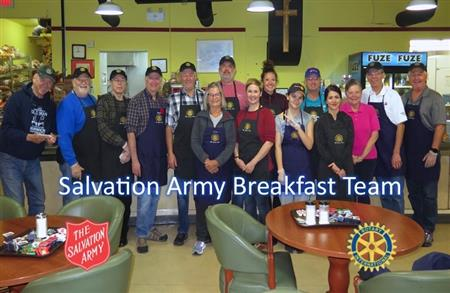 Breakfast at Salvation Army