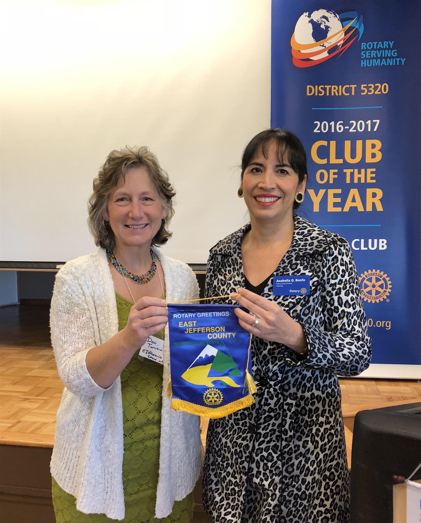 Dani Turissini at Irvine Rotary Club