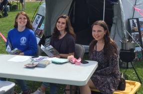Marley, Emma and Anna at ShelterBox at All-County Picnic