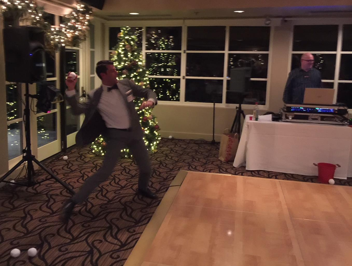 Along With A Great Meal And Fellowship Camilla Annie Wanted To Get Us Out Of Our Chairs So They Set Up Snowball Fight The Snowballs Were Sort