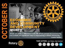 ROTARY MONTH: Economic and Community Development