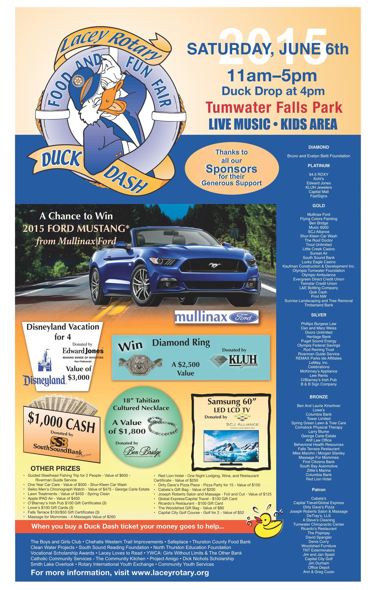 Mullinax Ford Olympia >> Duck Dash   Rotary Club of Lacey