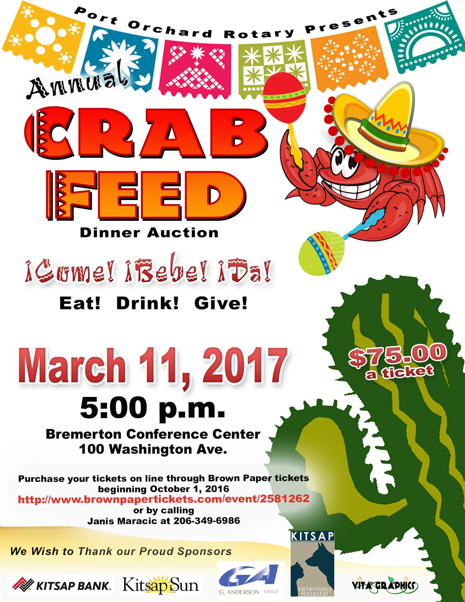 Olympic cycle port orchard - Port Orchard Rotary S 40th Annual Crab Feed And Auction Will Be A Mexican Fiesta Theme March 11 2017 At The Kitsap Conference Center Beginning At 5 00pm
