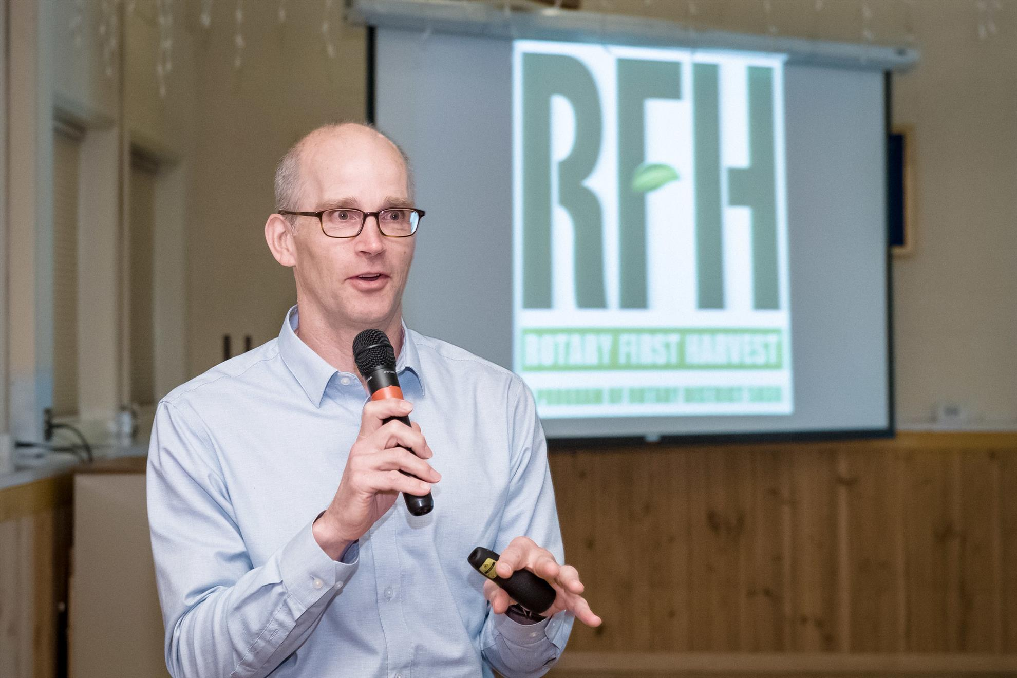 David Bobanick Speaks About Rotary First Harvest