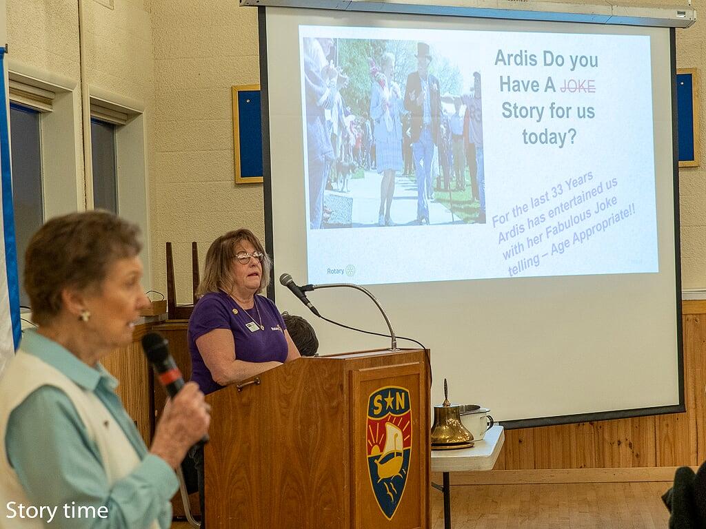 Ardis Morrow tells a story