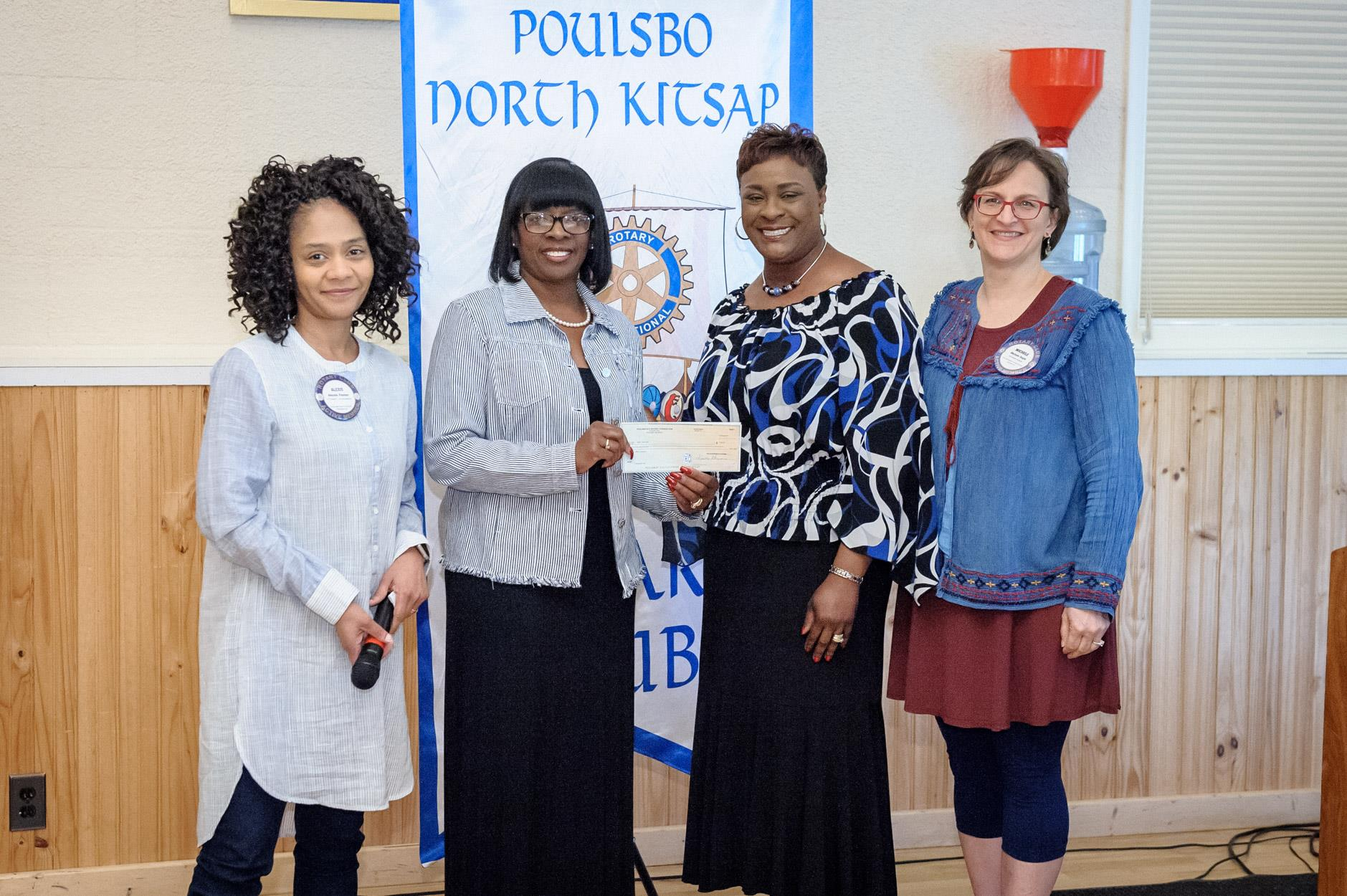 Harriet Bryant and Vicki Collins received a check for $500 for OurGEMs