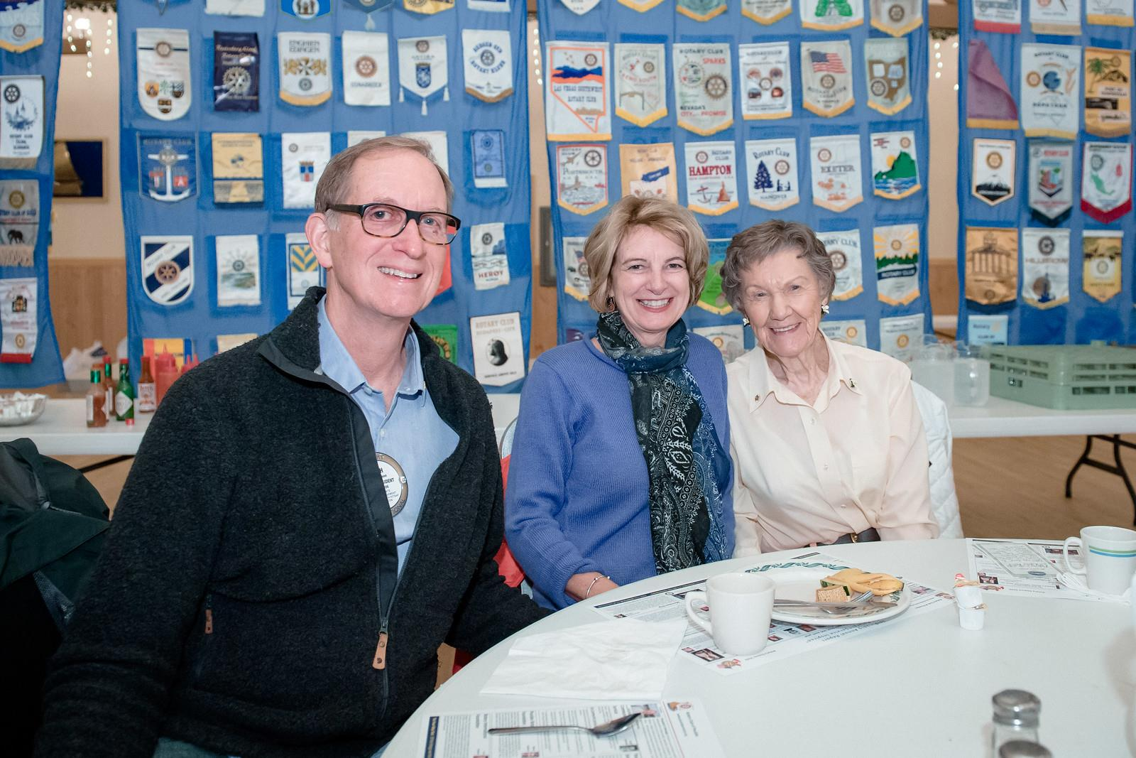 Hugh Nelson and Brenda Prowse with Ardis Morrow