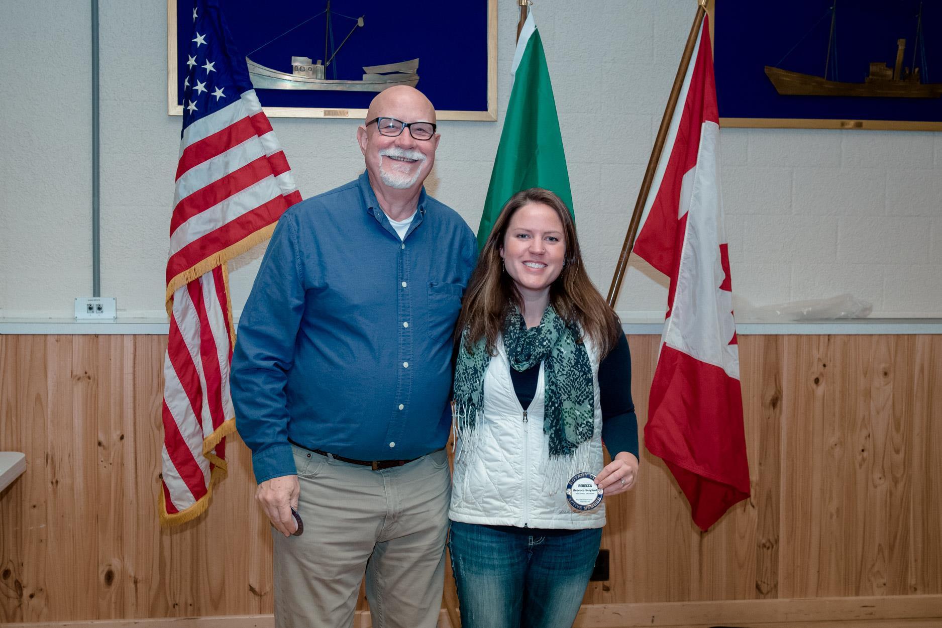 Joe Hulsey and Rebecca Heryford earn Blue Badges