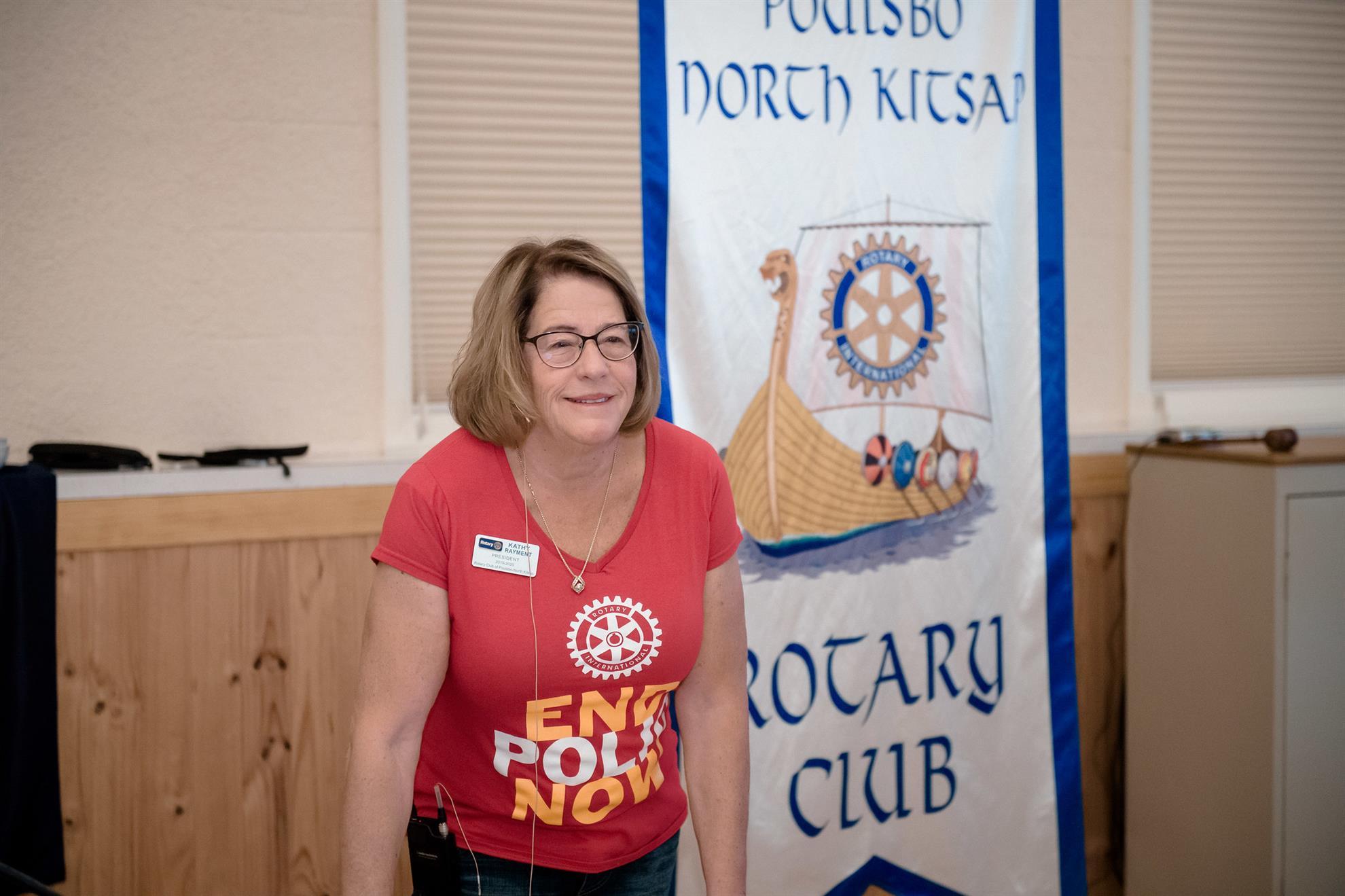 Kathy Rayment, new club President