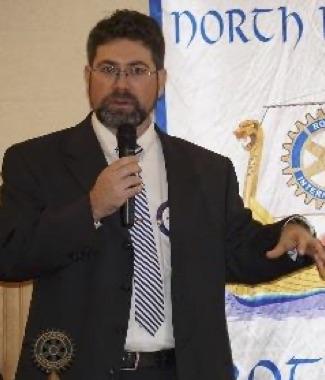 Shane explains Poulsbo NK Rotary Foundation