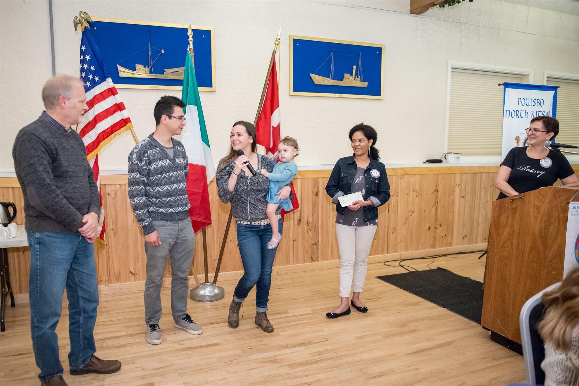 Alexis Foster presented a check