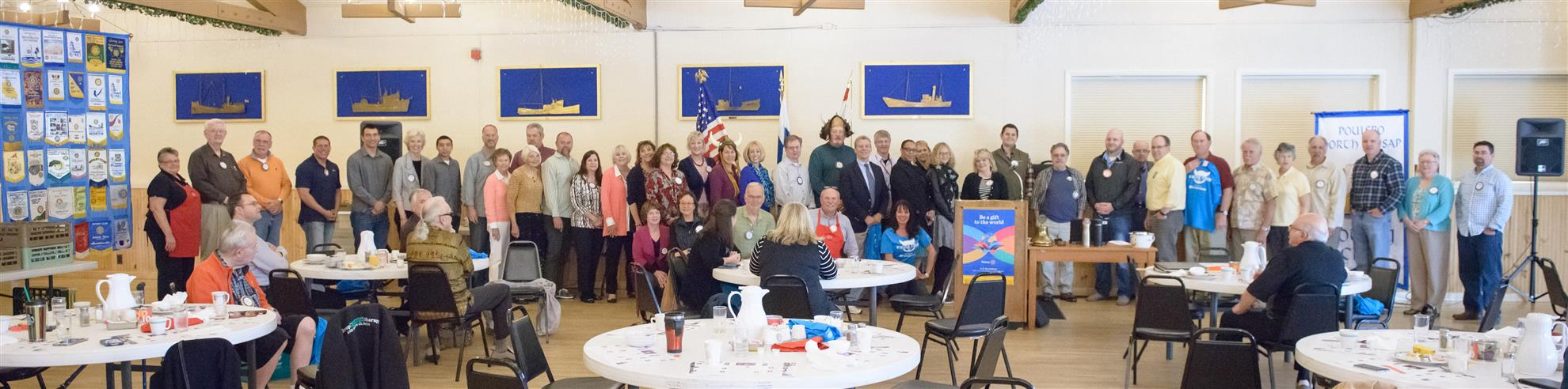 Group photo of Rotarians who volunteered to help with the Viking Tour fundraiser.