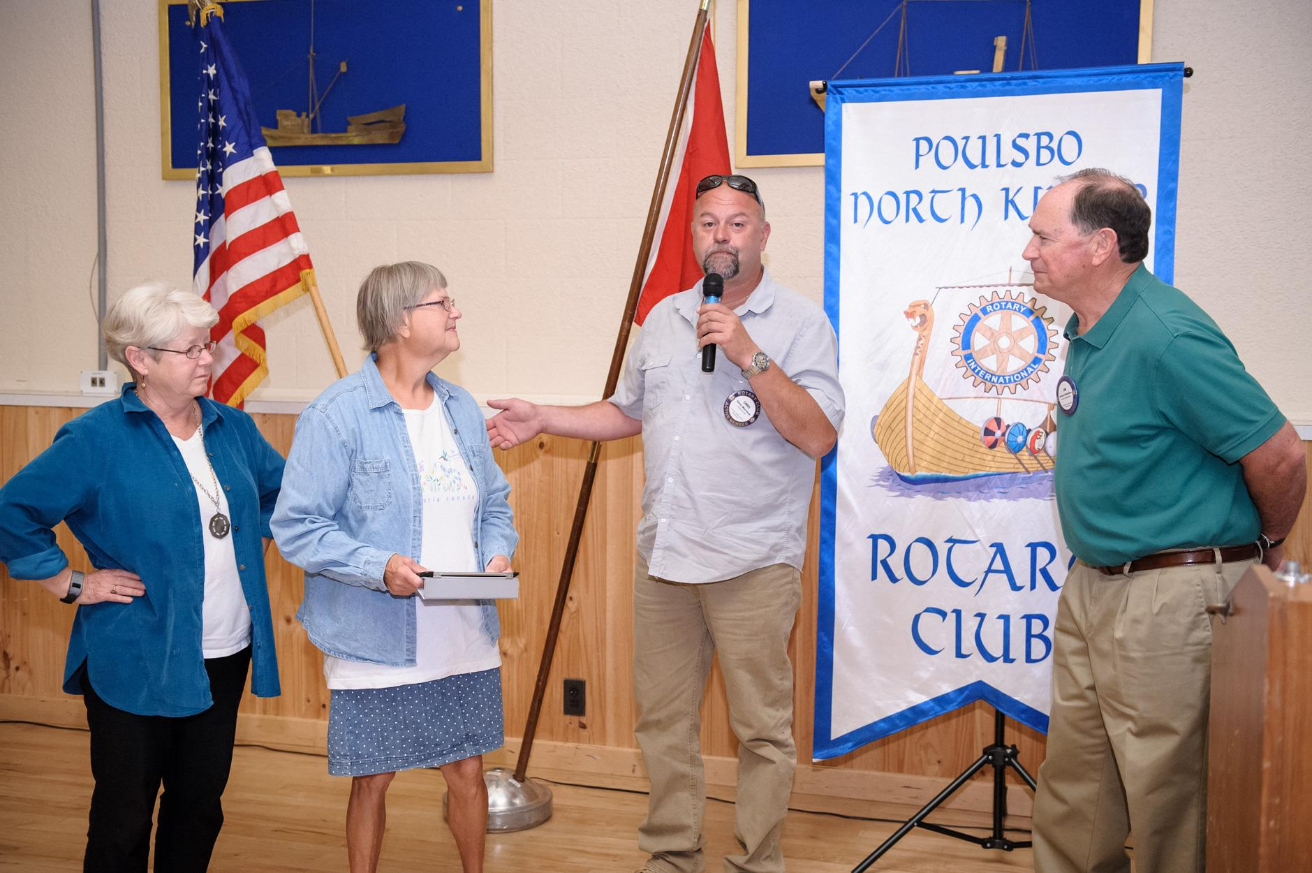 Check presentation to the Poulsbo Garden Club