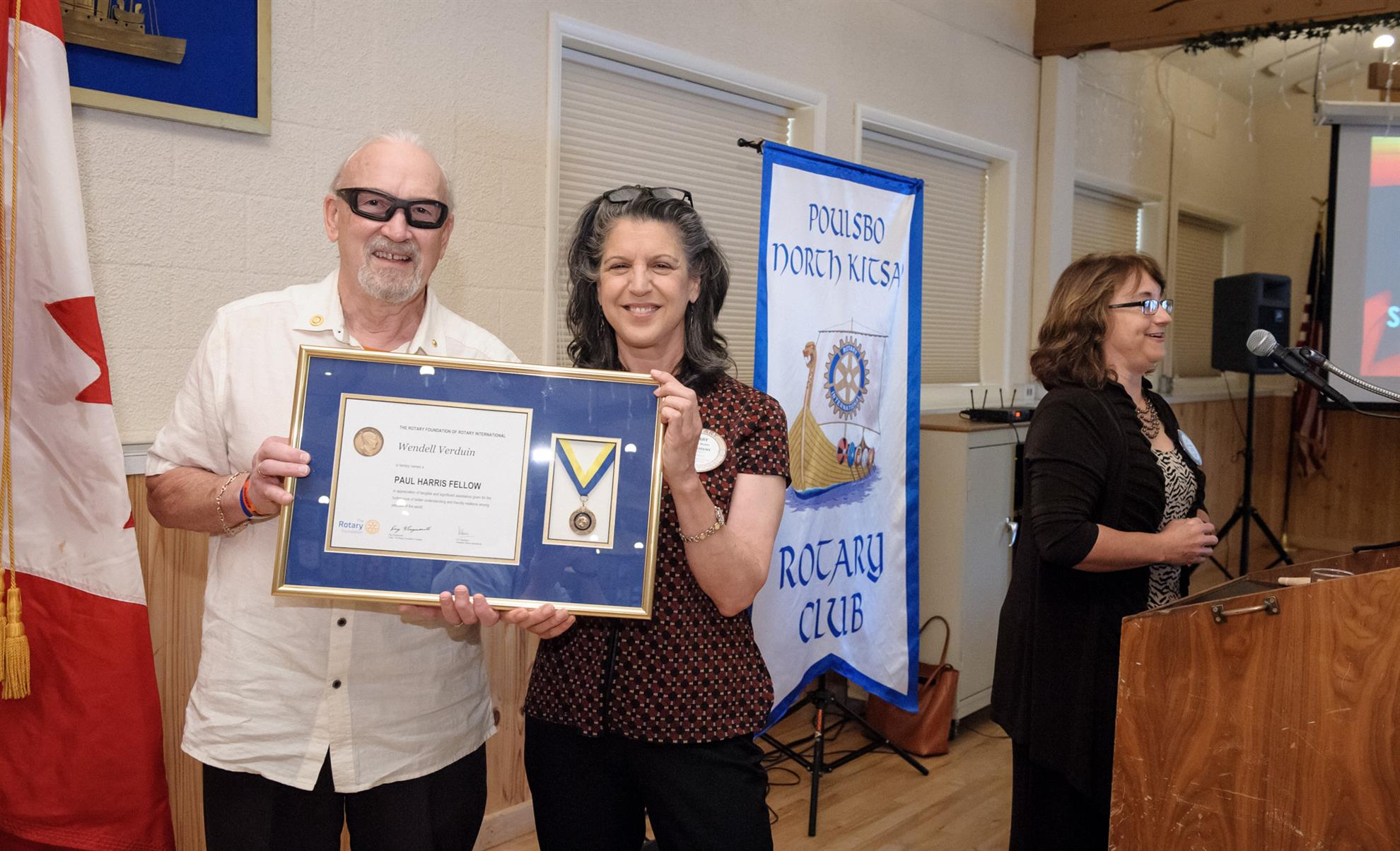 Wendell Verduin receives Paul Harris Award