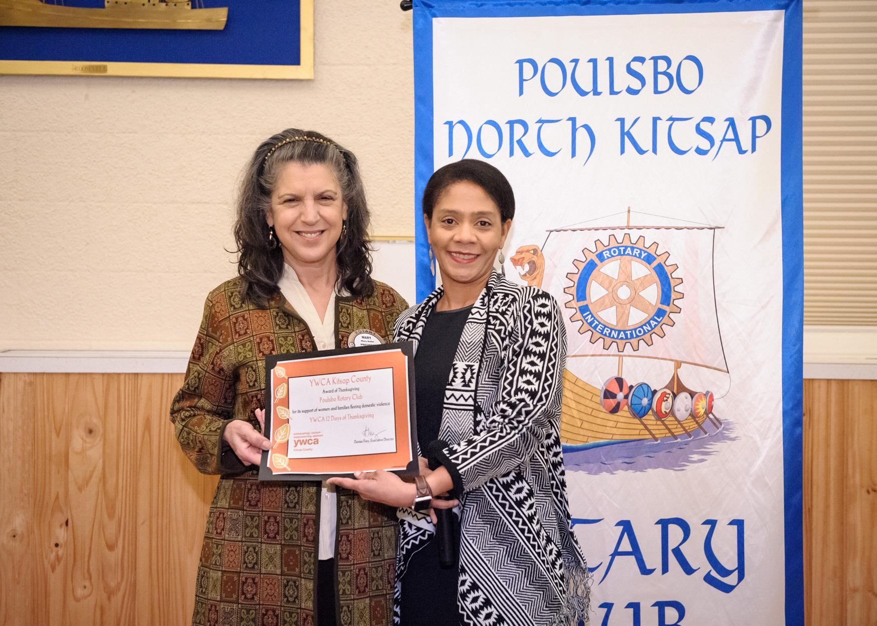 YWCA Presents Award to Poulsbo Rotary