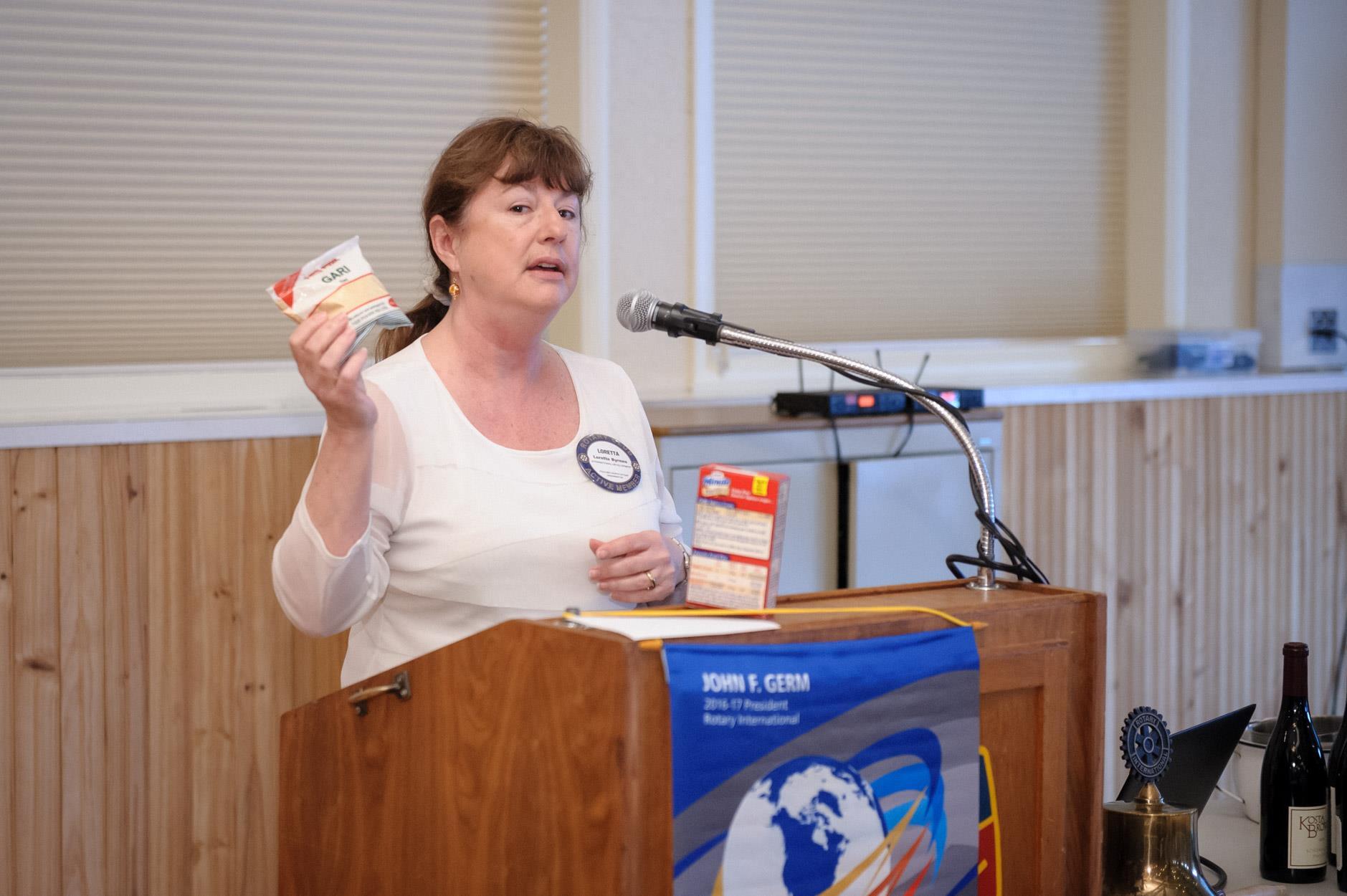 Poulsbo Rotarian Loretta Byrnes