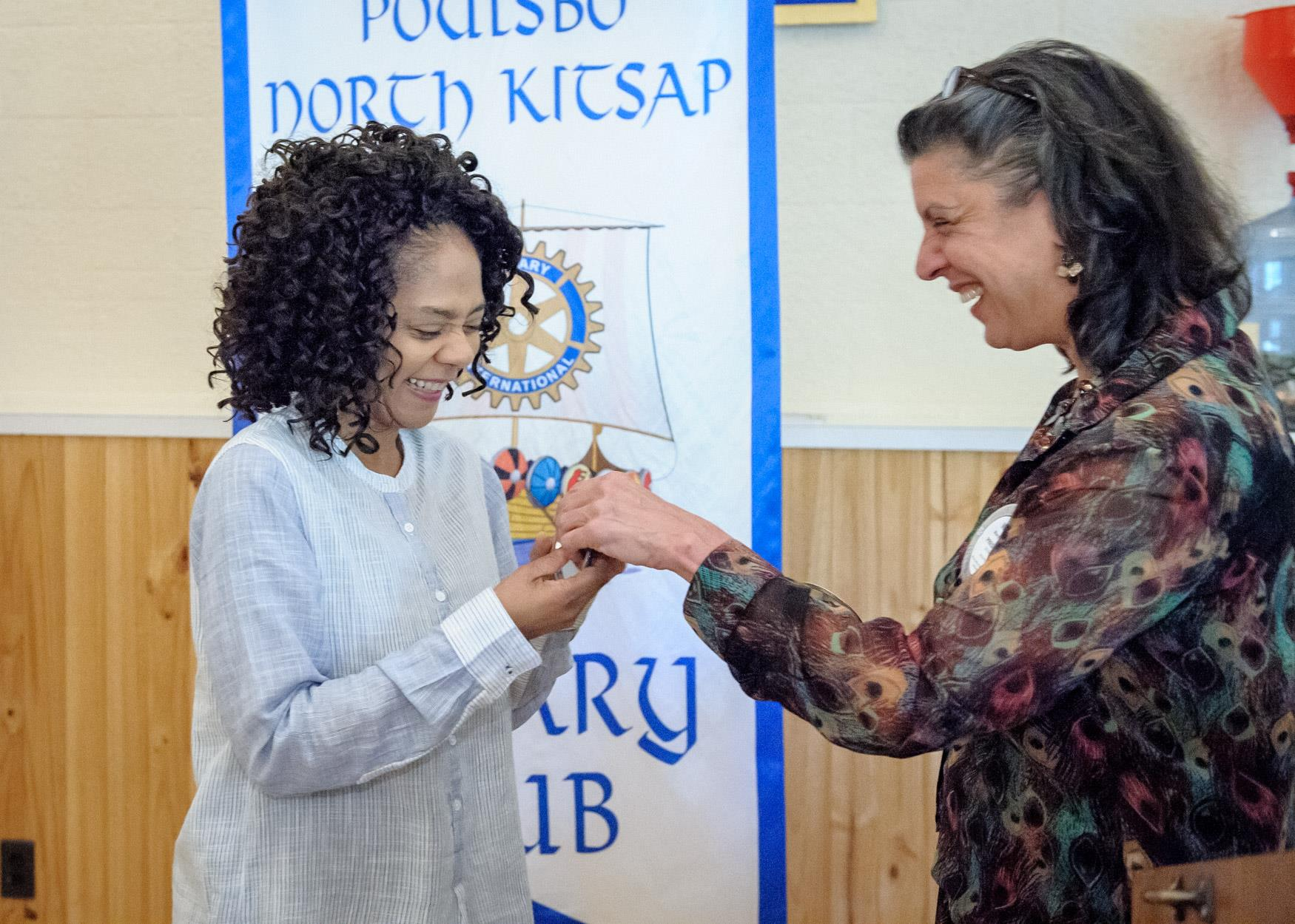 Alexis Foster received her Blue Badge