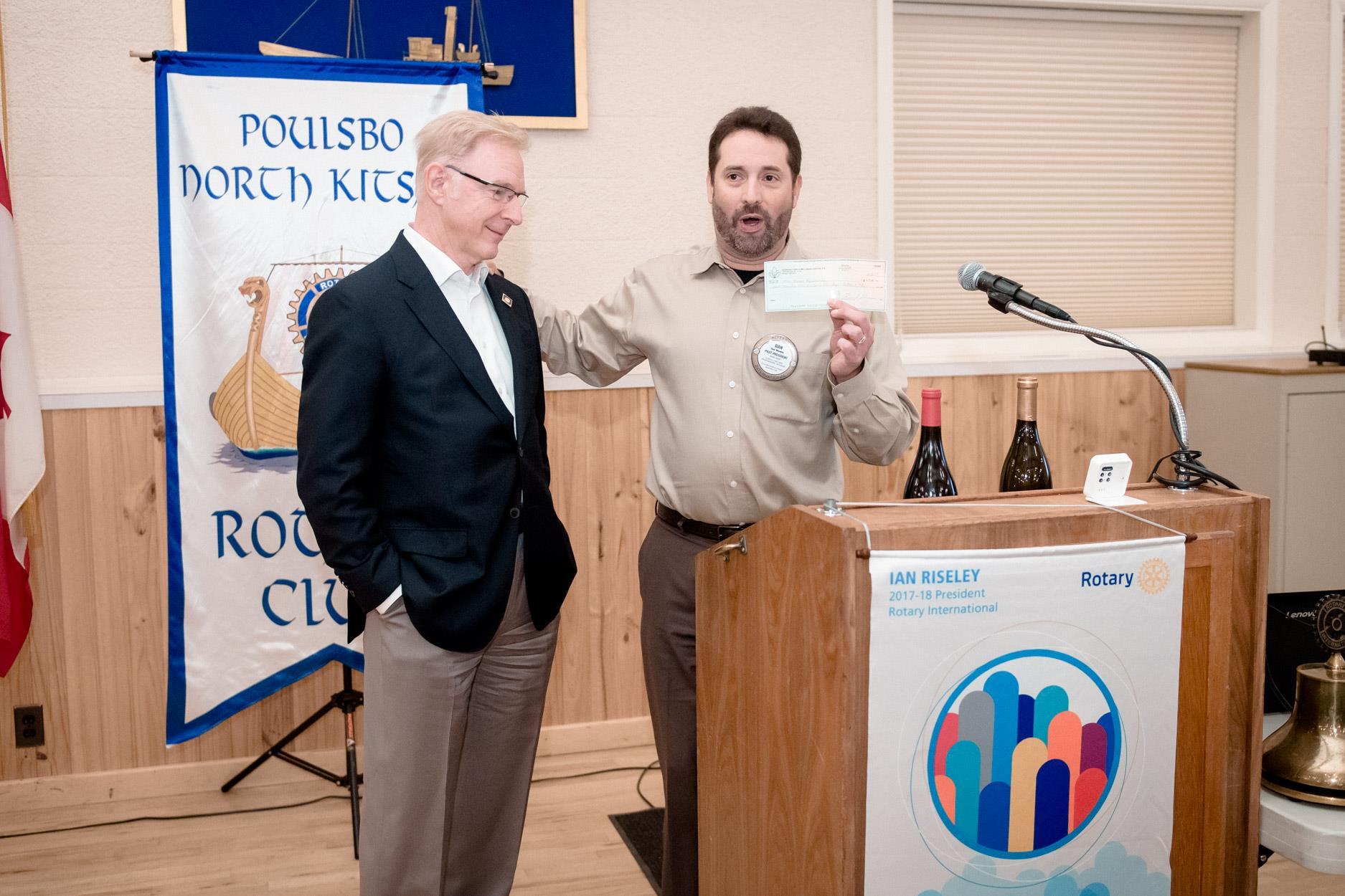 Bob Doane's contribution helps Poulsbo-NK Rotary Foundation Achieve Milestone