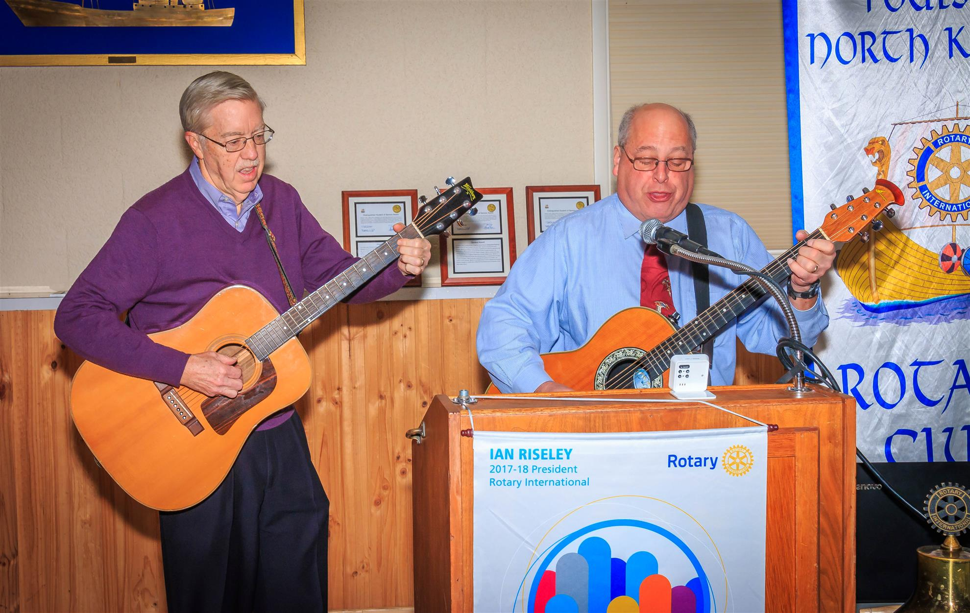 Singing for their supper - Bremerton Rotary