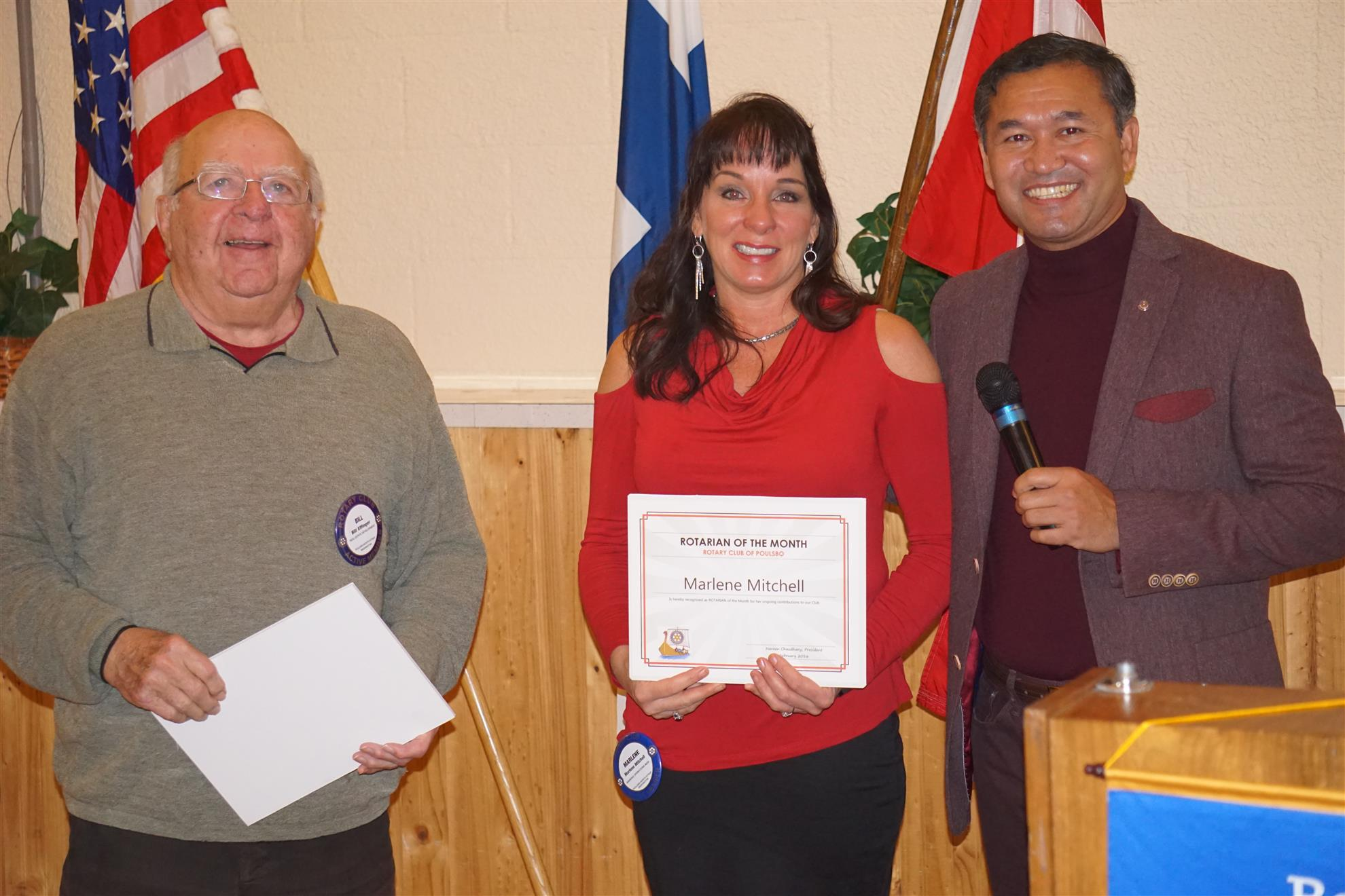 Bill Effinger and Marlene Mitchell - Rotarians of the Month