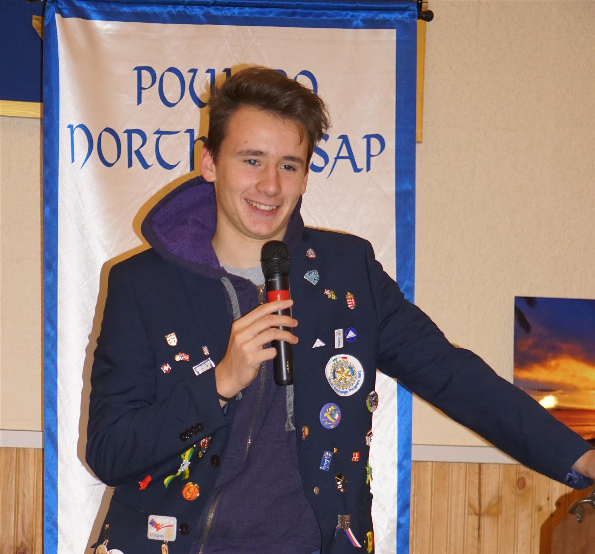 Jack, our Rotary Exchange student from Italy