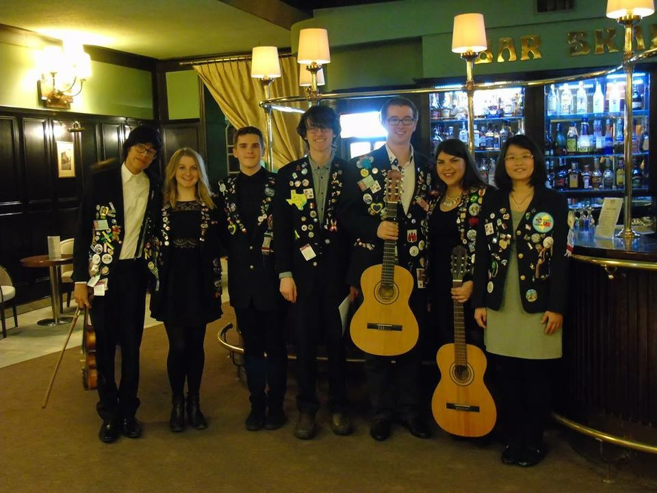 Myself and the other exchange students in Bydgoszcz, post valentine's ball performance! :)