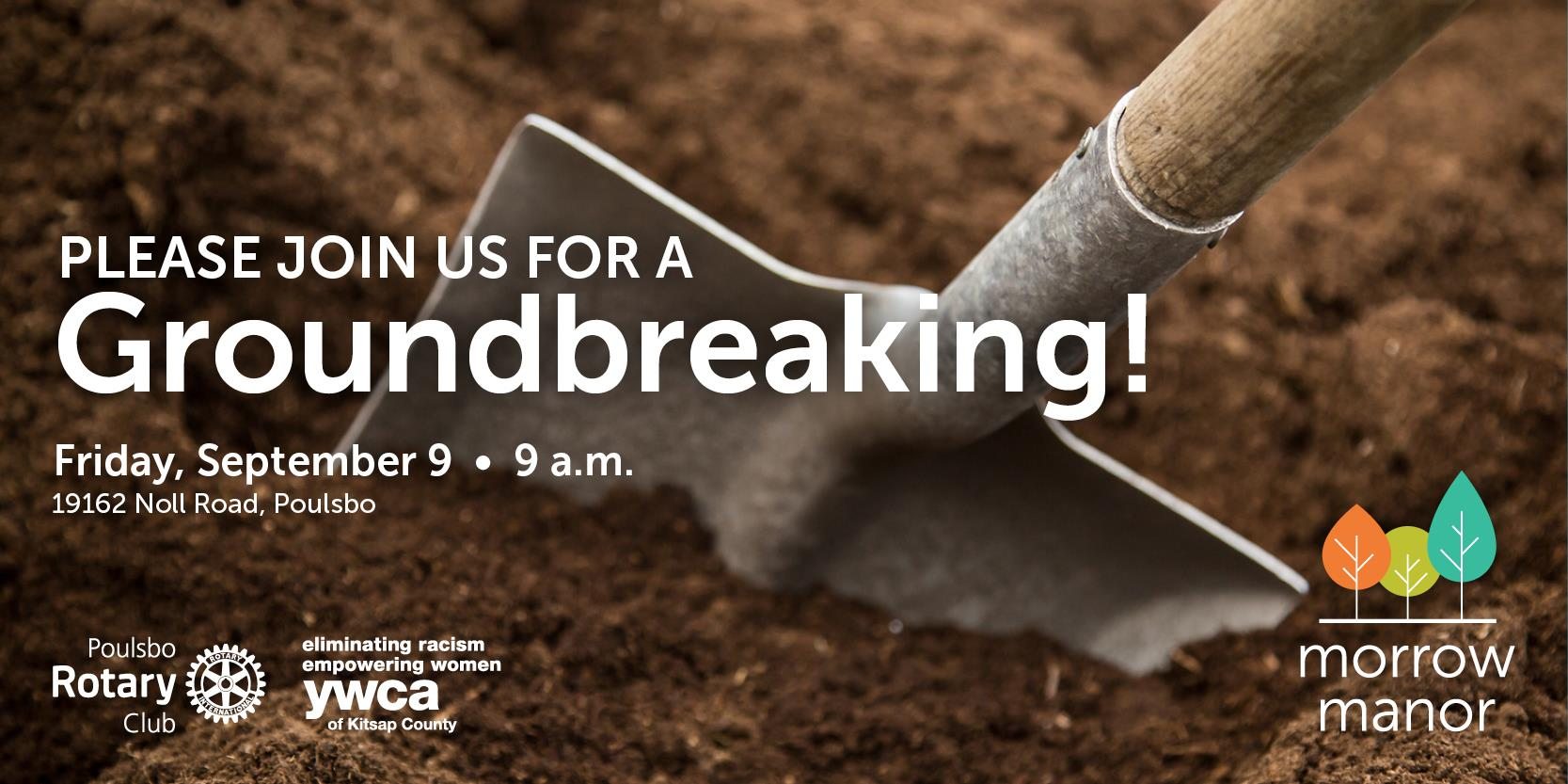 Morrow Manor groundbreaking Sept 9, 2016