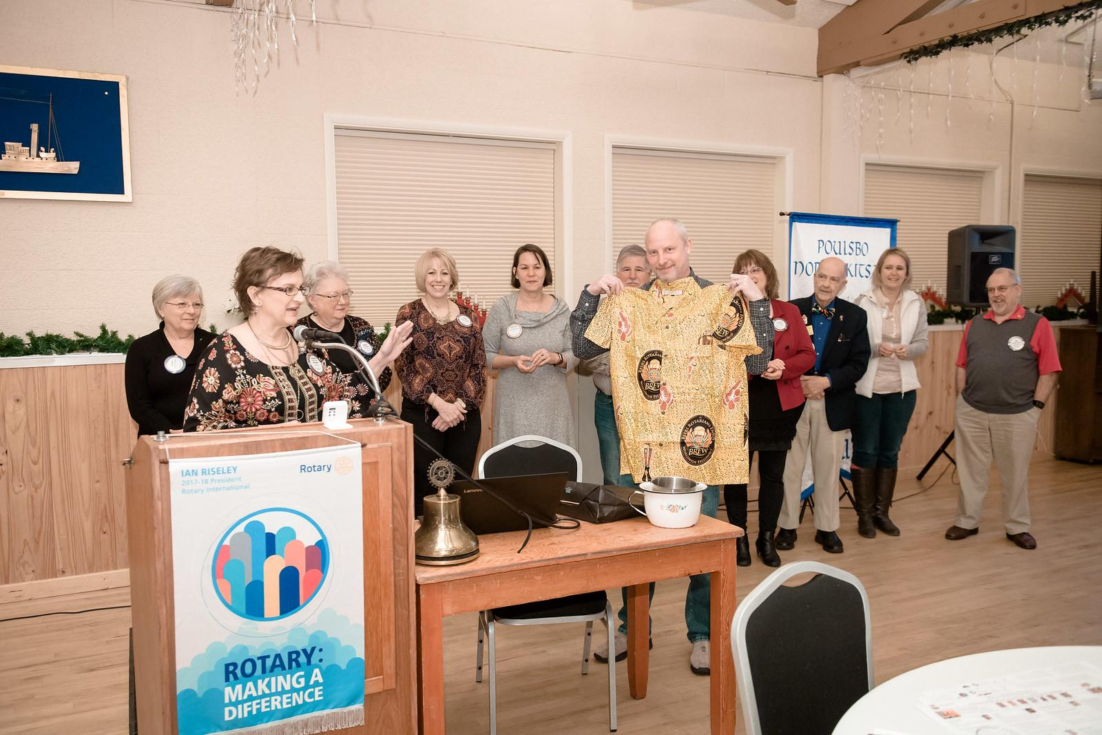 Director Pins presented to Rotary Club Board Members