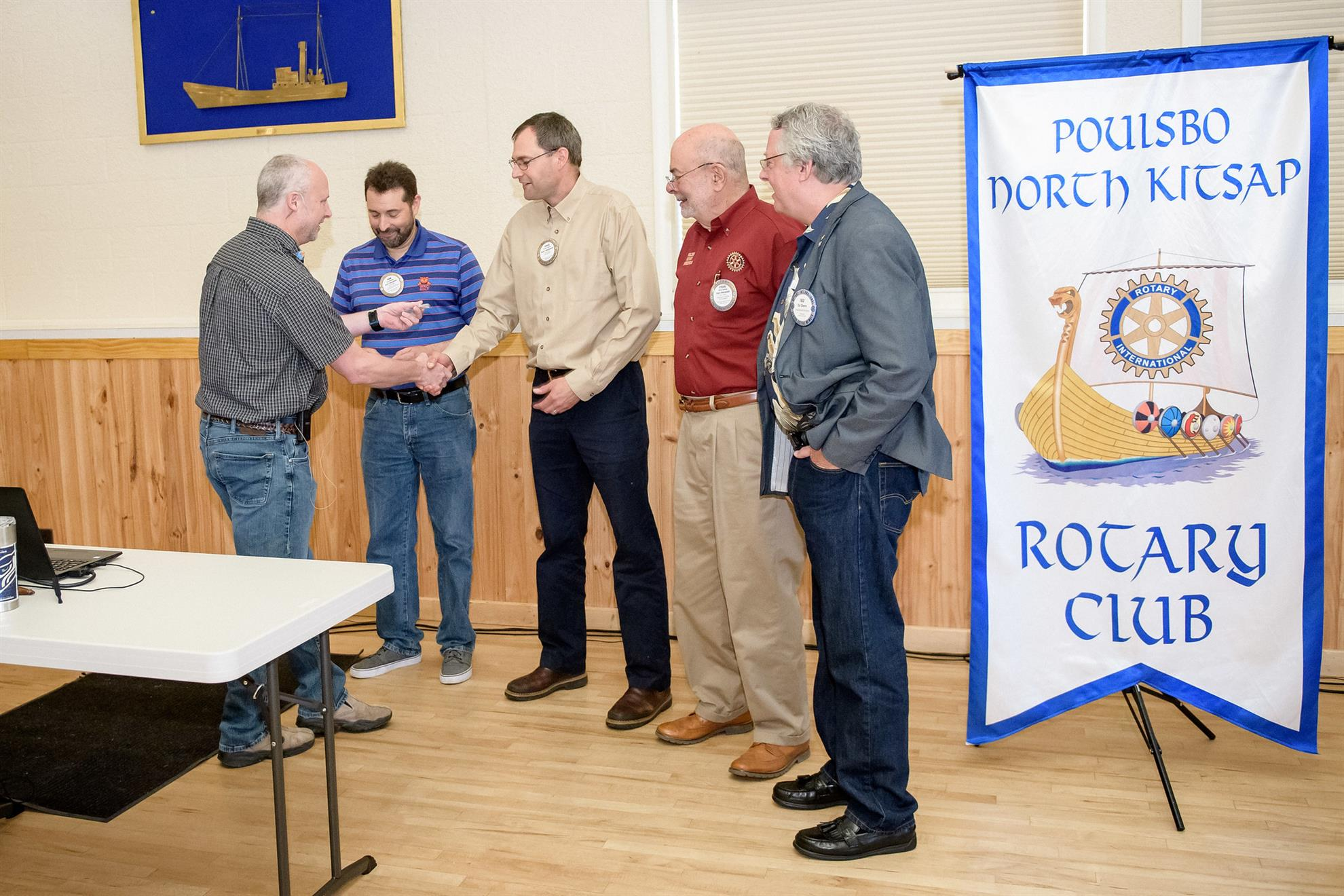 Rotarians honored for their service